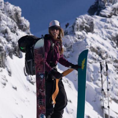 Christine Felicki Corvus Snowboarding Whistler